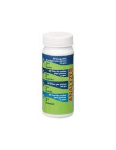 Teststreifen für pH-Wert, freies Chlor und Alkalität 50 Stk., Art.Nr.: 40068