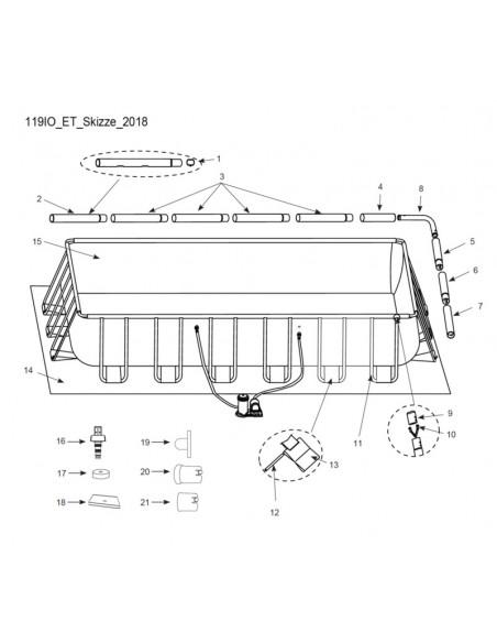 Skizze Intex Ultra Quadra 549x274x132 cm