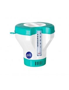 Kombi Chlordosierschwimmer mit Thermometer und Verbrauchsanzeige