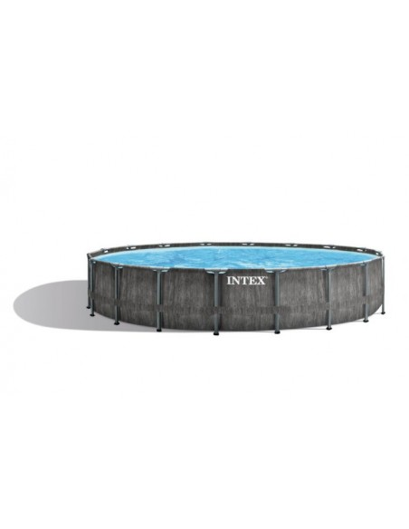 Intex Premium Frame Pool Prism Greywood 549x122 cm