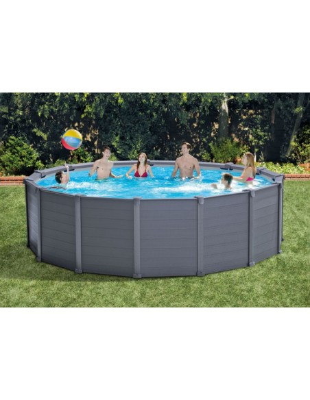 Frame Pool Graphit 478x124 cm